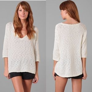 0f2a90ea6a00 Joie Trish Open Weave Cotton Textured Sweater